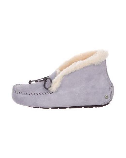 c8ba743027d3 Ugg - Purple Suede Round-toe Loafers - Lyst ...