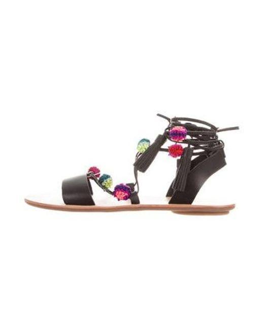 7755c57e32bc Loeffler Randall - Black Suze Lace-up Sandals W  Tags - Lyst ...