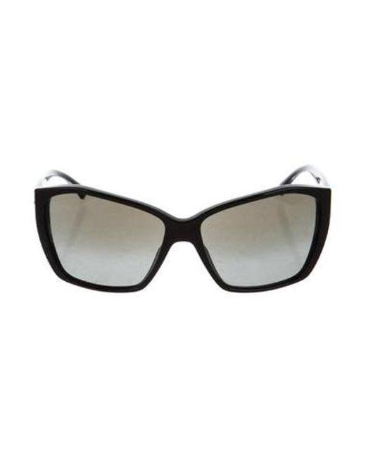 998ed96dfeeb Chanel - Black Oversize Cc Sunglasses - Lyst ...