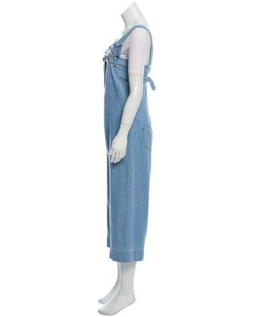 eb35f8945c04 ... Vivienne Westwood Anglomania - Blue Denim Wide-leg Overalls - Lyst ...