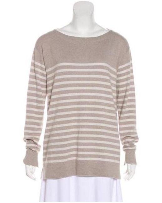 fc459932dd4e Lyst - Loro Piana Striped Baby Cashmere Sweater Grey in Gray