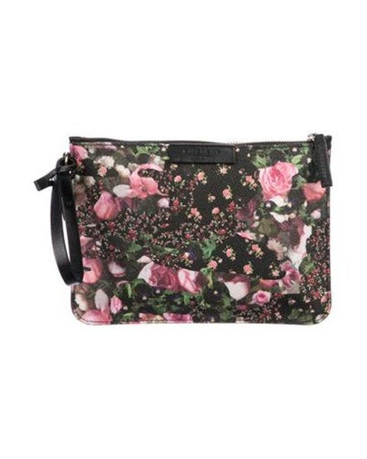 06a9a1ecd40 Givenchy - Metallic Printed Coated Canvas Wristlet Black - Lyst ...