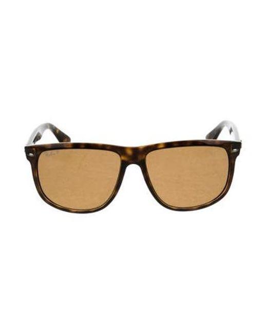 80b7cf86b8 Ray-Ban - Metallic Tortoiseshell Square Sunglasses Brown for Men - Lyst ...