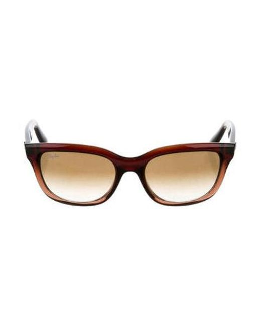 17926abfbb Ray-Ban - Metallic Square Gradient Sunglasses Brown - Lyst ...