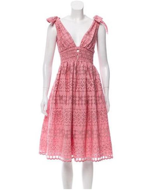 5fe0d7c302994 Self-Portrait - Pink Lace Midi Dress W  Tags - Lyst ...