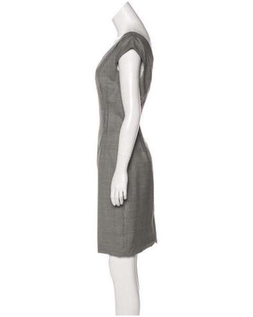 bb1663db54f1 ... Michael Kors - Black Houndstooth Knee-length Dress - Lyst ...