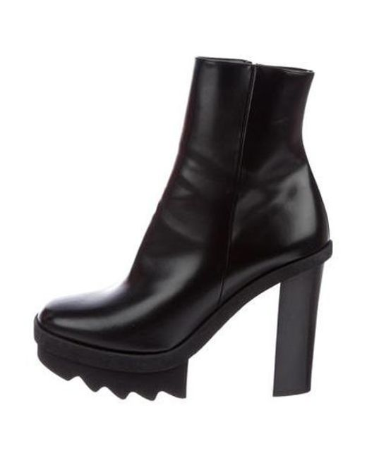 844bbb3cc16 Stella McCartney - Black Vegan Patent Leather Platform Boots - Lyst ...