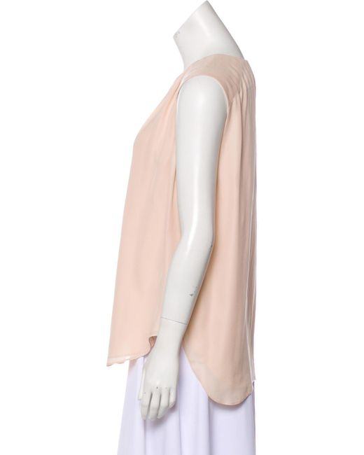 22e8ab4f9ee9e1 Lyst - L Agence Abella Silk Sleeveless Top in Pink
