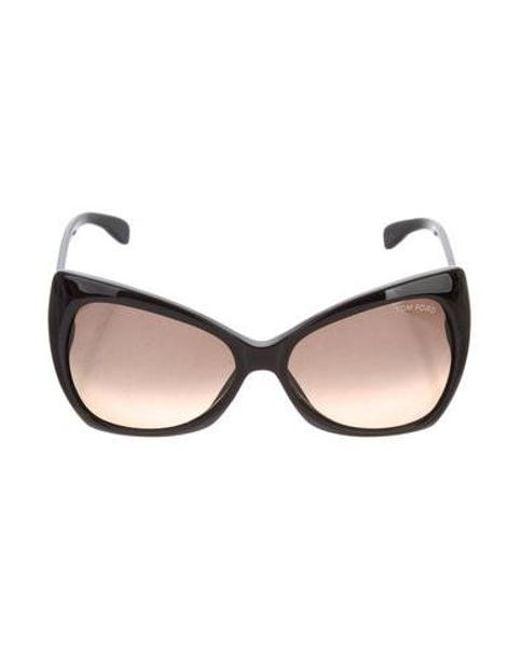 879d0d72ca355 Tom Ford - Metallic Nico Oversize Sunglasses Black - Lyst ...