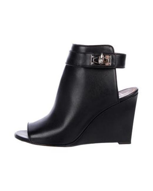 8d5aaf2dfcb3 Givenchy - Black Leather Wedge Boots - Lyst ...
