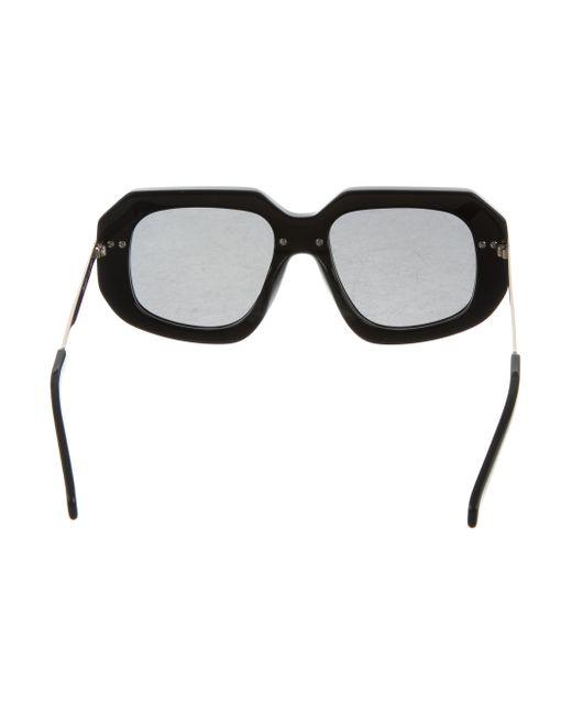 4fd372b38ab ... Karen Walker - Metallic Superstars Creepers Sunglasses W  Tags Black -  Lyst ...