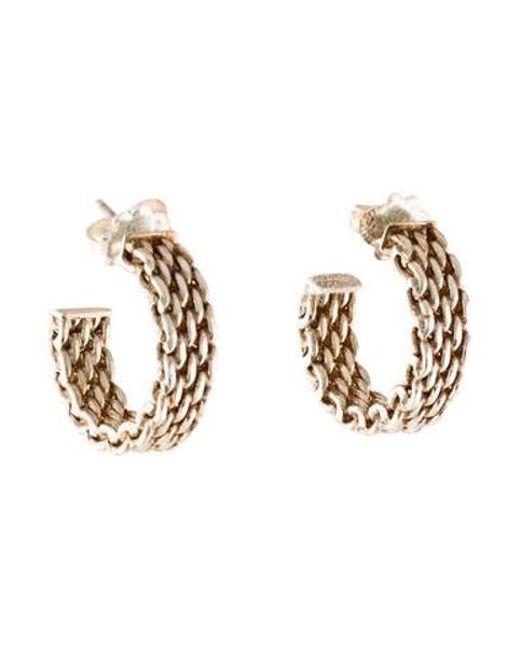 Tiffany Co Metallic Somerset Hoop Earrings Silver
