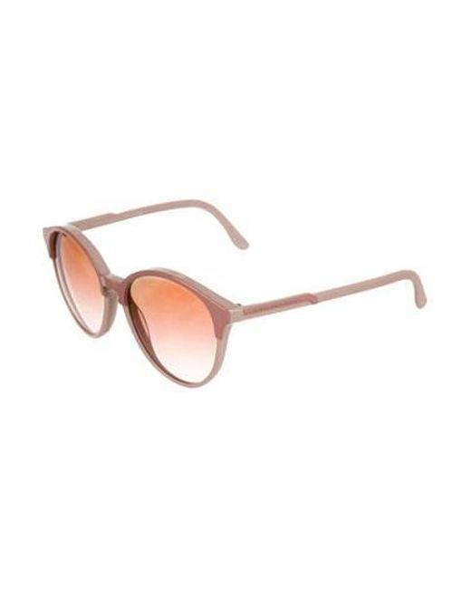 1072ef4d1f ... Stella McCartney - Pink Tinted Round Sunglasses - Lyst ...