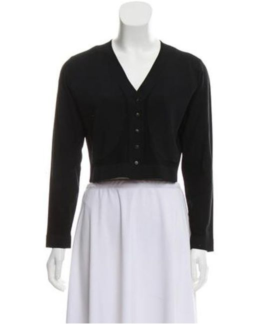 8e5701530a Narciso Rodriguez - Black Long Sleeve Button Up Cardigan W  Tags - Lyst ...