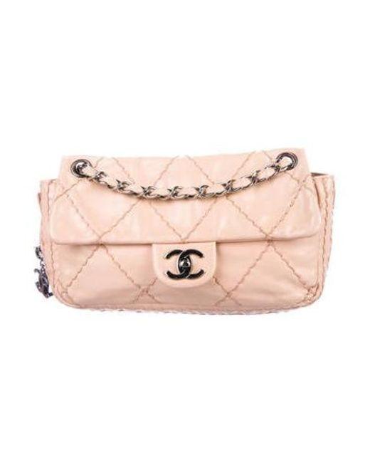 f633c9ae5c69 Chanel - Metallic Expandable Ligne Flap Bag Silver - Lyst ...