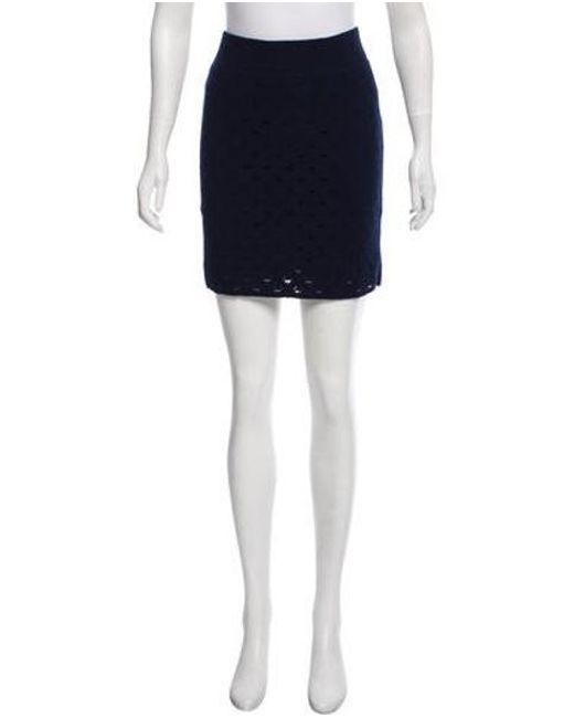 Rag & Bone - Blue Open Knit Mini Skirt Navy - Lyst