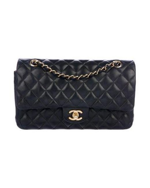 175c393787e6 Chanel - Metallic Classic Small Double Flap Bag Black - Lyst ...