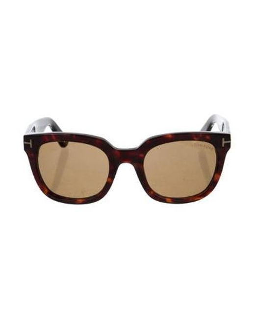 97583ee89a5b4 Tom Ford - Metallic Campbell Tinted Sunglasses Brown - Lyst ...