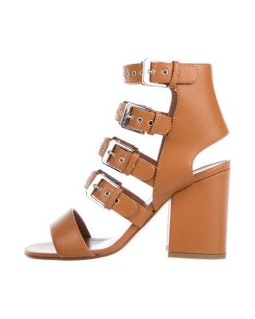 7ba068a0dbf Laurence Dacade - Metallic Leather Buckle Sandals Brown - Lyst ...