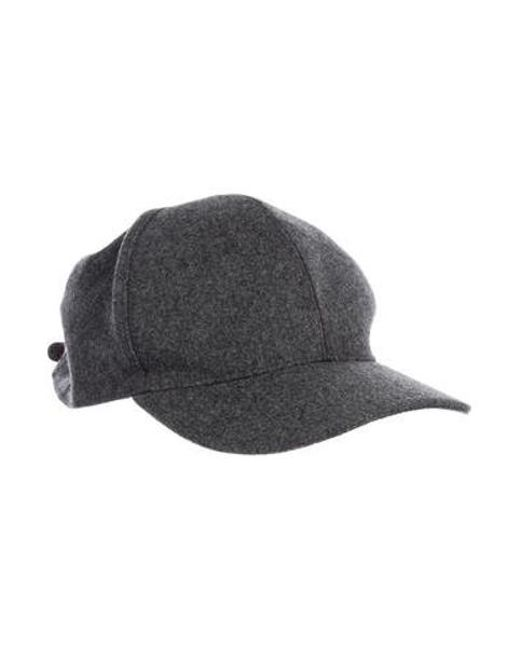 Brunello Cucinelli - Metallic Wool Leather-trimmed Hat Grey for Men - Lyst  ... 08cb3e39999f