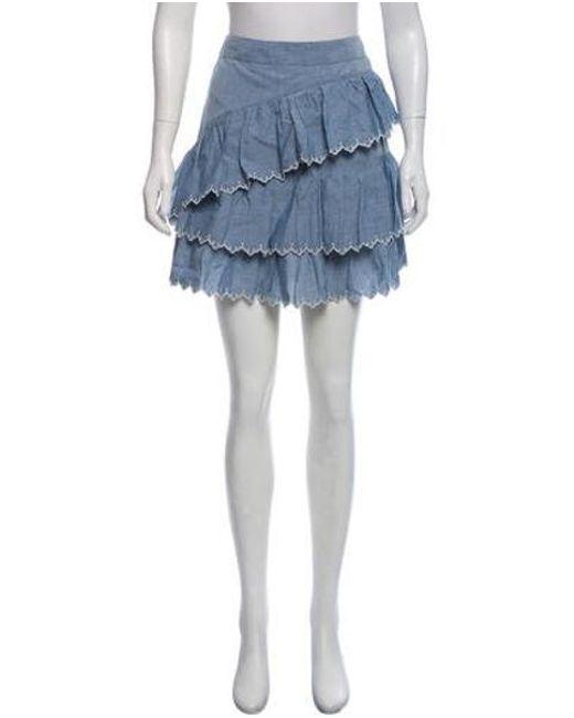 1bf703634f Ulla Johnson - Blue R18-ulla-ella Skirt Navy - Lyst ...
