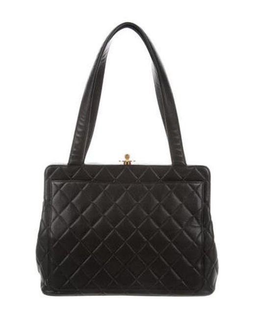 58087151c46f Chanel - Metallic Vintage Caviar Bag Black - Lyst ...
