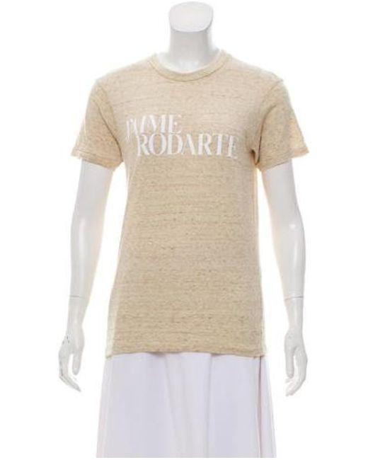 Graphic Women's T Shirt Natural Sleeve Beige Print Short cLq4RSj35A