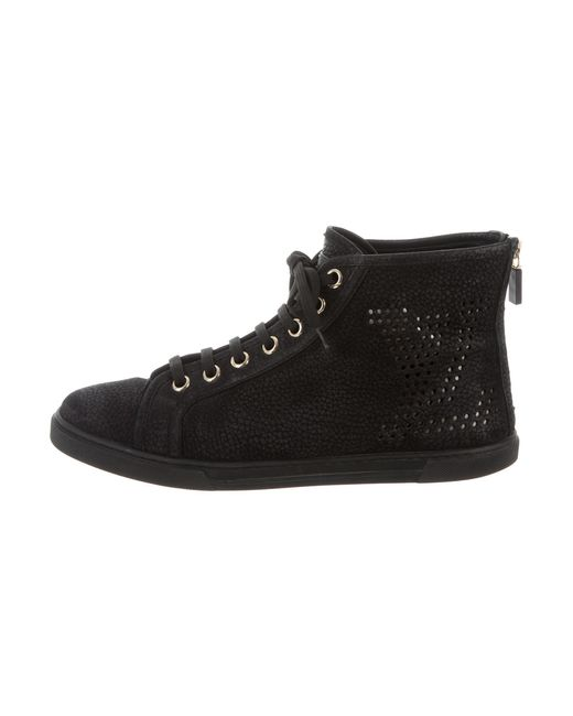 Louis Vuitton - Black Logo High-top Sneakers - Lyst