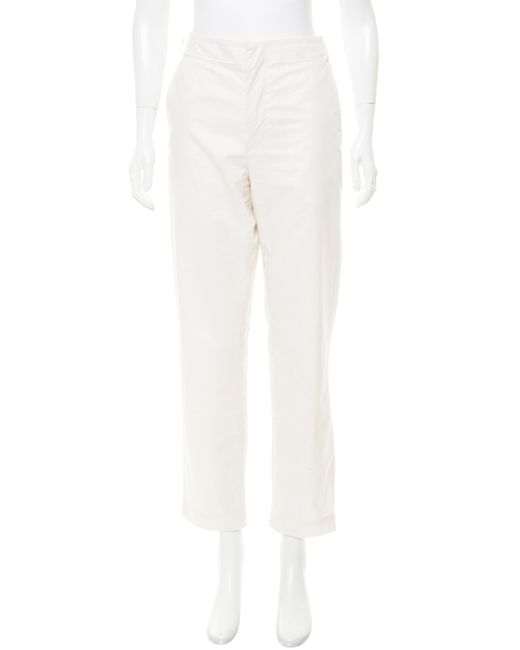 Isabel Marant - Natural Serge Cotton-twill Straight-leg Pants - Lyst
