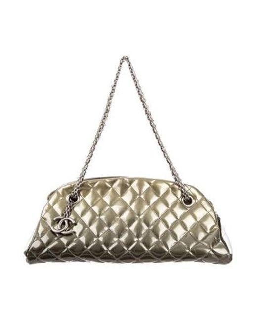1b2d2ae0b939 Chanel - Green Just Mademoiselle Bowler Bag - Lyst ...