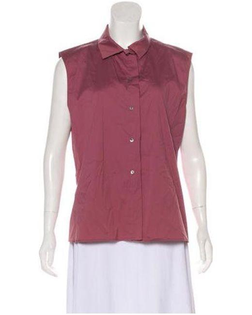fee6761b Jil Sander - Purple Sleeveless Button-up Top - Lyst ...