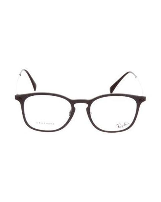 f2a3e03f1f Ray-Ban - Natural Rectangle Light Ray Eyeglasses Plum for Men - Lyst ...