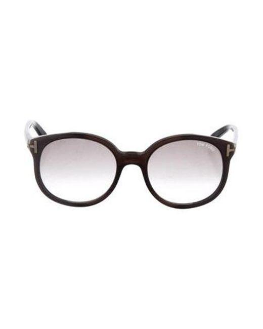b53bb9da67 Tom Ford - Metallic Diane Oversize Sunglasses Grey - Lyst ...