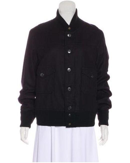 9b823635f08 Golden Goose Deluxe Brand - Metallic Wool Varsity Jacket Navy - Lyst ...