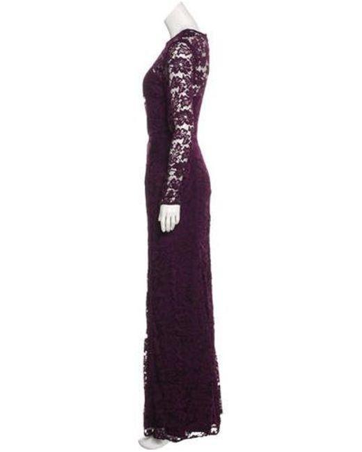 263ffb5a15a ... ML Monique Lhuillier - Purple Lace Maxi Dress - Lyst ...