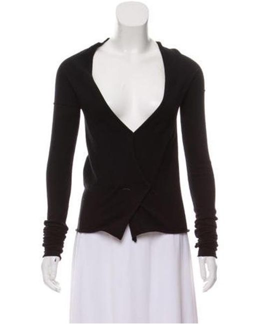 9e4c2b55c73d Miu Miu - Black Miu Long Sleeve Cashmere Top - Lyst ...