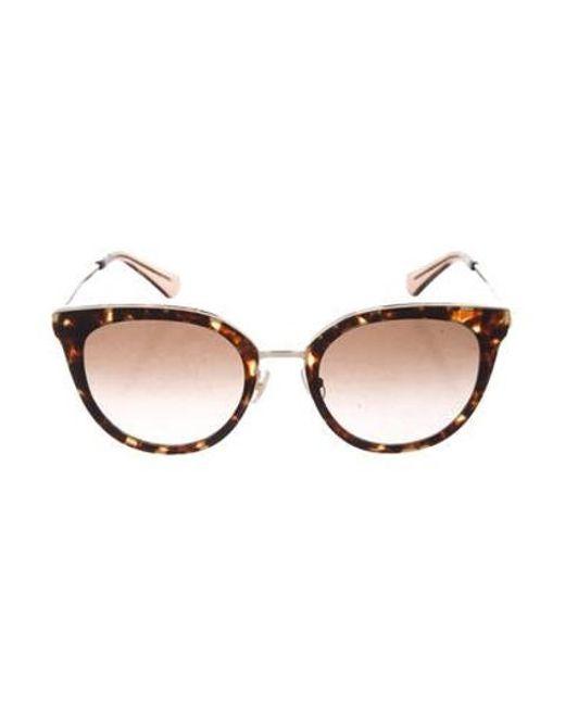 ab42da19548 Kate Spade - Metallic Jazzlyn Cat-eye Sunglasses Brown - Lyst ...