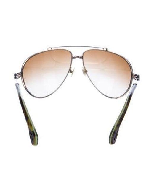 10da5fc3c70 ... Chrome Hearts - Metallic Stoned Aviator Sunglasses Gold - Lyst ...