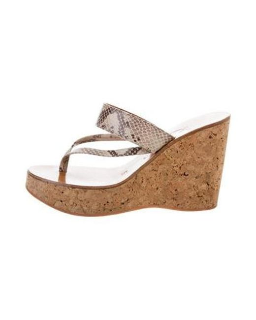 ec4485610cf0 K. Jacques - Gray Embossed Wedge Sandals Grey - Lyst ...
