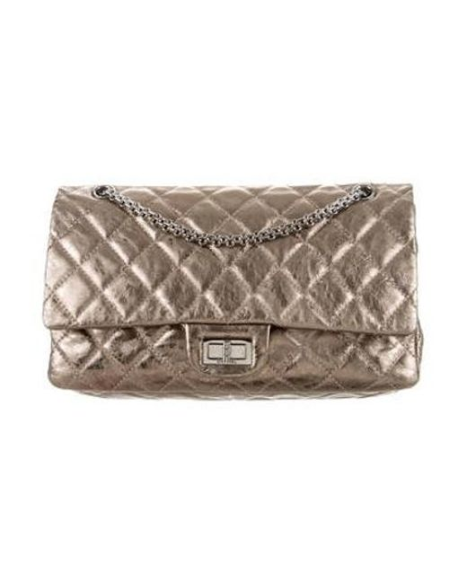 b18303cc4926 Chanel - Metallic Quilted Reissue 227 Double Flap Bag - Lyst ...