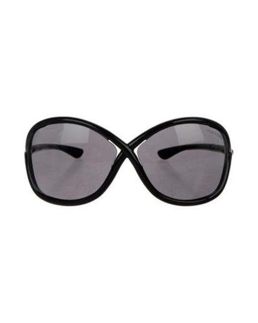 ea0ede6f81e Tom Ford - Black Tinted Whitney Sunglasses - Lyst ...