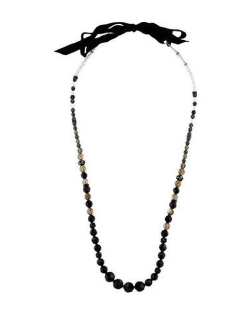 Erickson Beamon - Metallic Crystal Bead Necklace Gold - Lyst