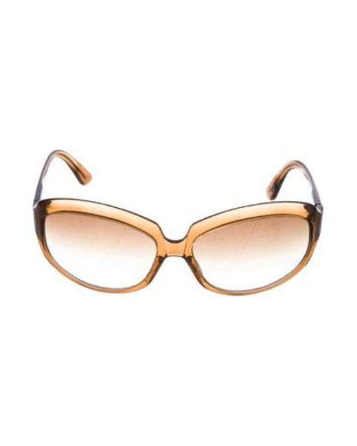 4dc74f08f84d Oliver Peoples - Brown La Donna Gradient Sunglasses - Lyst ...