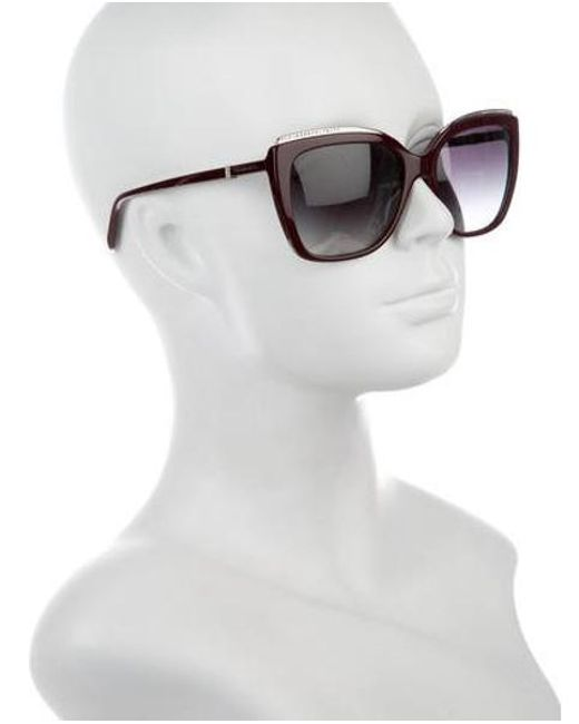 40821abb2eb ... Tiffany   Co - Metallic Embellished Square Sunglasses Silver - Lyst