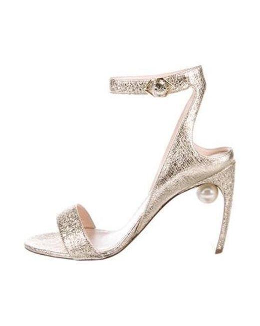 0c4794155b3 Nicholas Kirkwood - Metallic Lola Pearl Ankle Strap Sandals W  Tags Gold -  Lyst ...