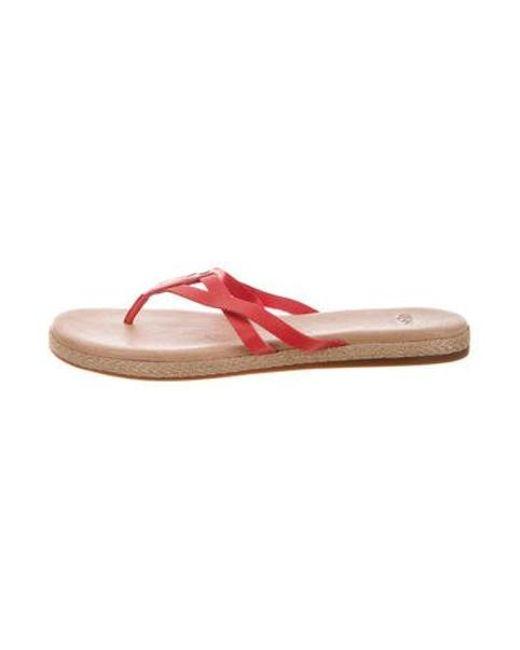 23d77751643 Ugg - Red Thong Slide Sandals - Lyst ...