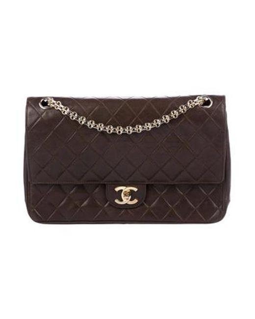 d65434c63741 Chanel - Metallic Vintage Medium Double Flap Bag Gold - Lyst ...