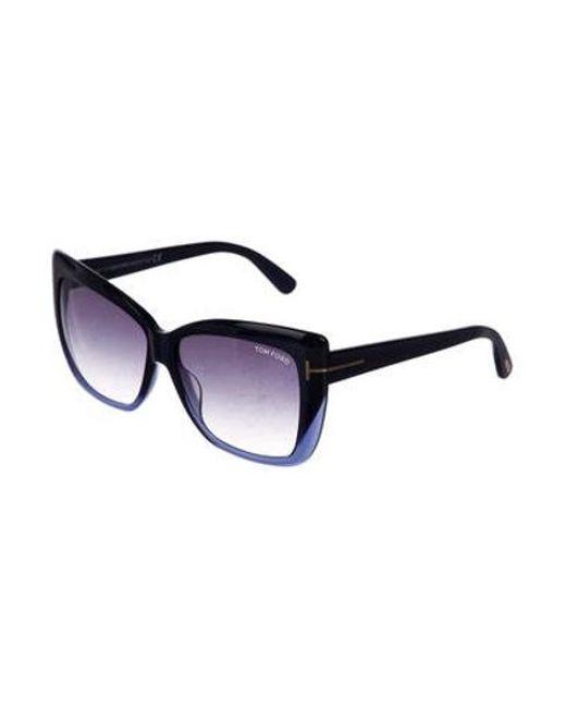 2e57ffc125 ... Tom Ford - Blue Irina Gradient Sunglasses Navy - Lyst ...