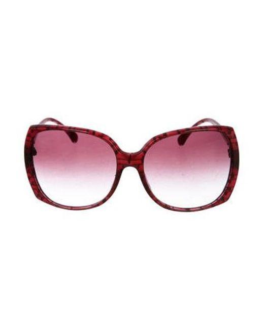 a6b6d04a08d0 Chanel - Metallic Square Signature Sunglasses Silver - Lyst ...