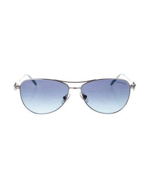 c12e45eba5 Tiffany   Co - Metallic Aviator Gradient Sunglasses Silver - Lyst ...